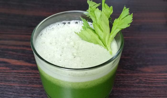 Cucumber-Kohlrabi-Melon Juice