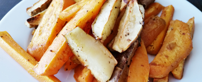 Carrot-Sweet Potato-Topinambur Fries