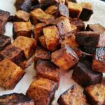 Gebratener Tofu mit Sojasauce